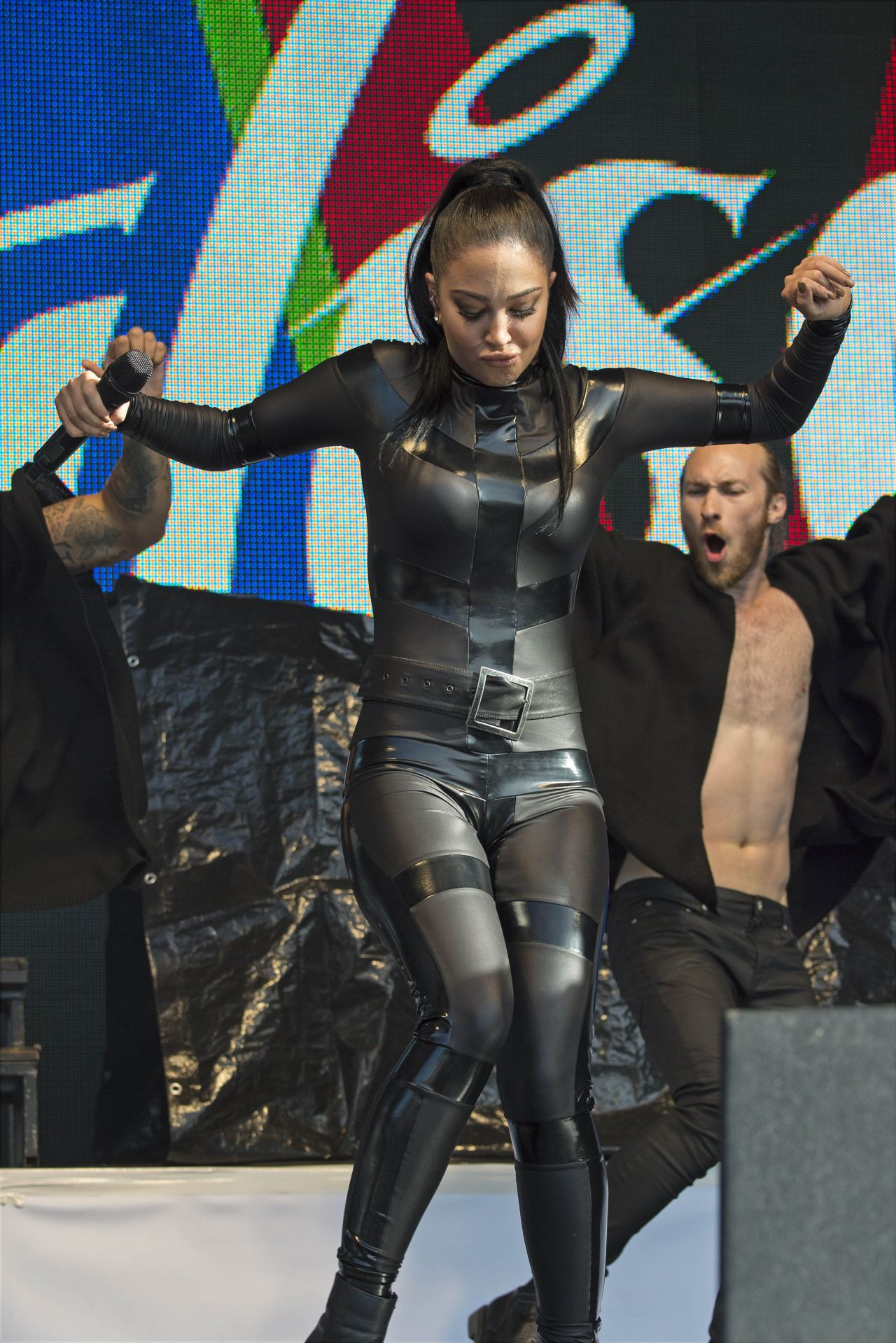 Tulisa Contostavlos In Rubber Catsuit Live Brighton Gay