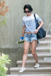 Vanessa Hudgens in Jeans Shorts - Leaving Her House in Studio City, August 2015