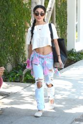Vanessa Hudgens in Ripped Jeans - Out in LA, August 2015