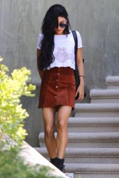 Vanessa Hudgens Leaving Her Home in Studio City, August 2015