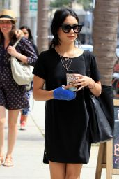 Vanessa Hudgens Shops at Rite Aid in Beverly Hills, August 2015
