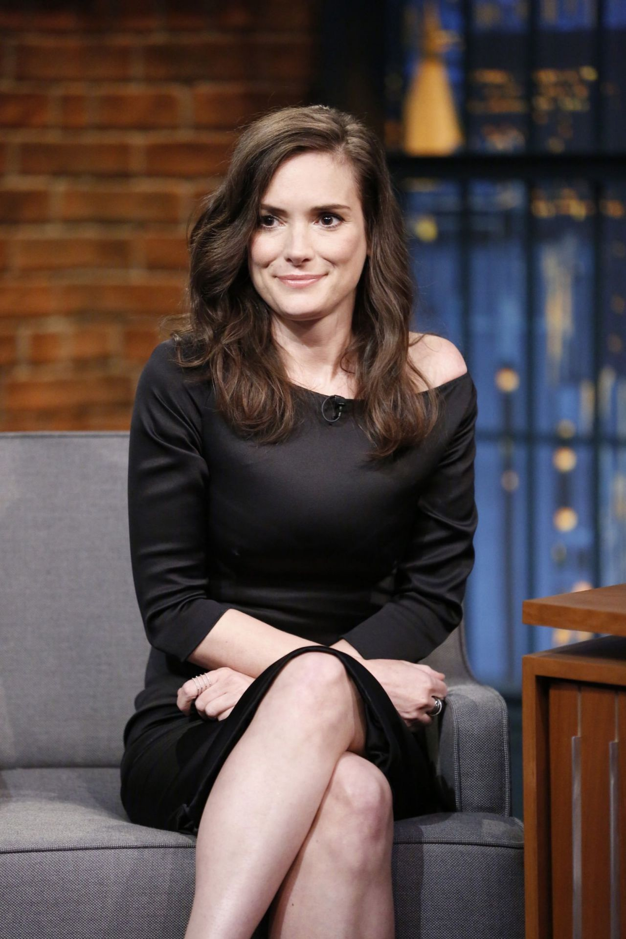 Winona Ryder At Late Night With Seth Meyers In New York