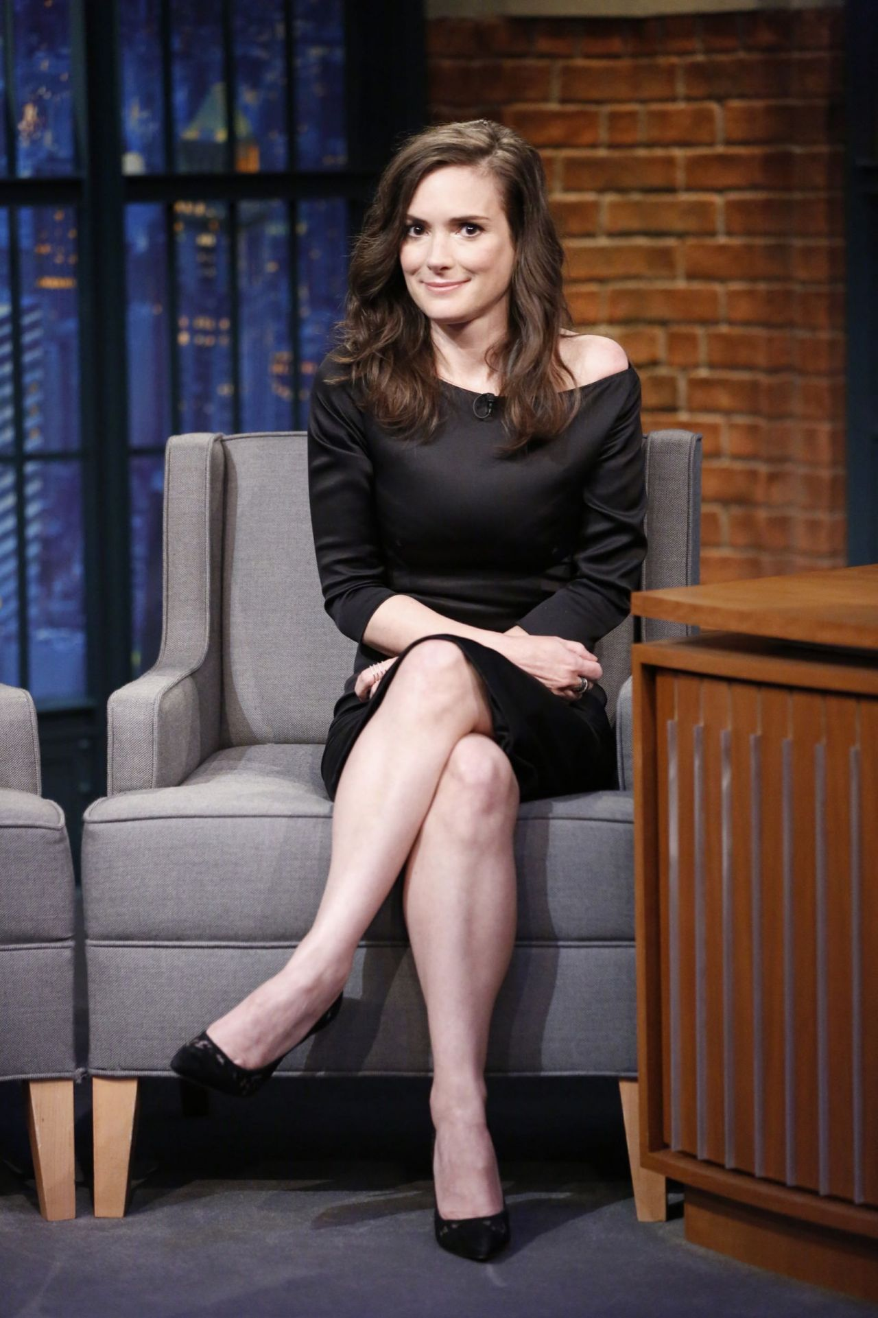 Winona Ryder at 'Late Night with Seth Meyers' in New York ...