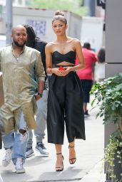 Zendaya Style - Arriving at an Office Building in NYC, August 2015
