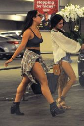Vanessa and Stella Hudgens - Leaving a Hospital in Los Angeles, September 2015