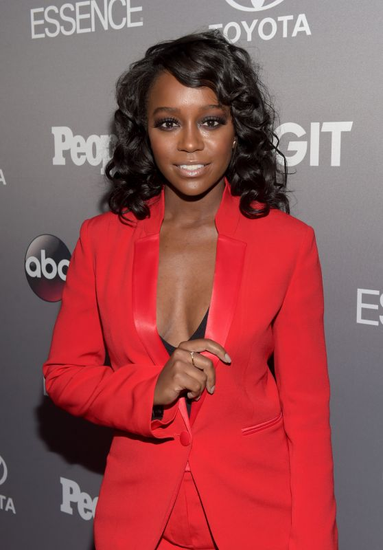 Aja Naomi King – ABC's TGIT Line-up Celebration in West Hollywood