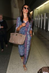 Alessandra Ambrosio Airport Style - at LAX, August 2015