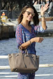 Alessandra Ambrosio Arrives at the Lido for the 72nd Venice Film Festival