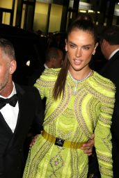 Alessandra Ambrosio Hot in Dress - Arriving at amfAR Milano 2015 in Milano