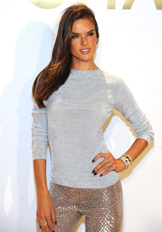 Alessandra Ambrosio - New Gold Collection Fragrance Launch in NYC, September 2015
