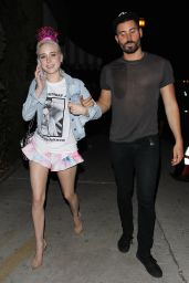 Alessandra Torresani - Leaving a Nightclub With a Friend in Hollywood, September 2015