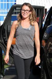 Alexa Pena Vega in Leggings - DWTS Studio in Hollywood, September 2015