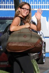 Alexa Pena Vega in Leggings - DWTS Studio in Hollywood, September 2015