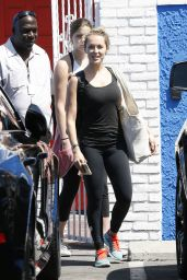 Alexa PenaVega - at the DWTS Studio in Hollywood, September 2015