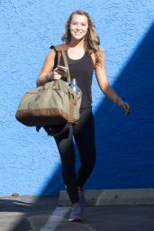 Alexa PenaVega Booty in Tights - at the DWTS Studio in Hollywood, September 2015