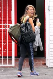 Alexa PenaVega Booty in Tights - DWTS Studio in Hollywood, September 2015