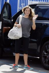 Alexa Vega in Leggings - Arriving at Dwts Studio, September 2015