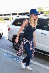 Alice Eve Airport Style - at LAX, September 2015