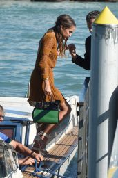 Alicia Vikander Deboarding the Yacht in Venice, Italy, September 2015