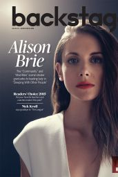 Alison Brie - Backstage Magazine September 2015 Cover and Photos