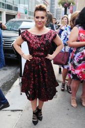 Alyssa Milano - Out During New York Fashion Week, September 2015