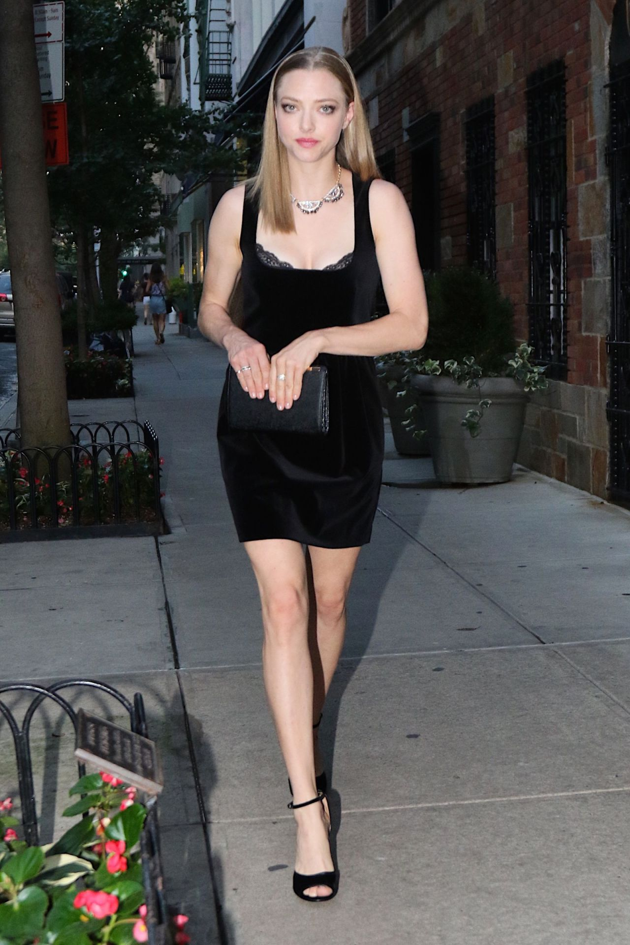 Amanda Seyfried in Mini Dress – New York City, September 2015