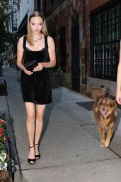 Amanda Seyfried in Mini Dress - New York City, September 2015