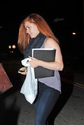 Amy Adams - Leaving a Salon in Los Angeles, September 2015