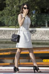 Anita Caprioli Arrives at the Lido for the 72nd Venice Film Festival