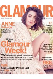 Anne Hathaway - Glamour Magazine UK October 2015 Cover and Pics