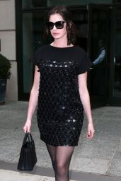 Anne Hathaway Leaving Her Hotel For