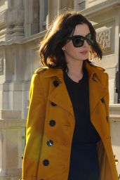 Anne Hathaway Style - Leaving her Hotel in London, September 2015