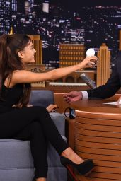 Ariana Grande on The Tonight Show in New York, September 2015
