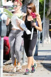 Ashley Greene in Leggings - Shopping at Bristol Farms in Los Angeles, September 2015