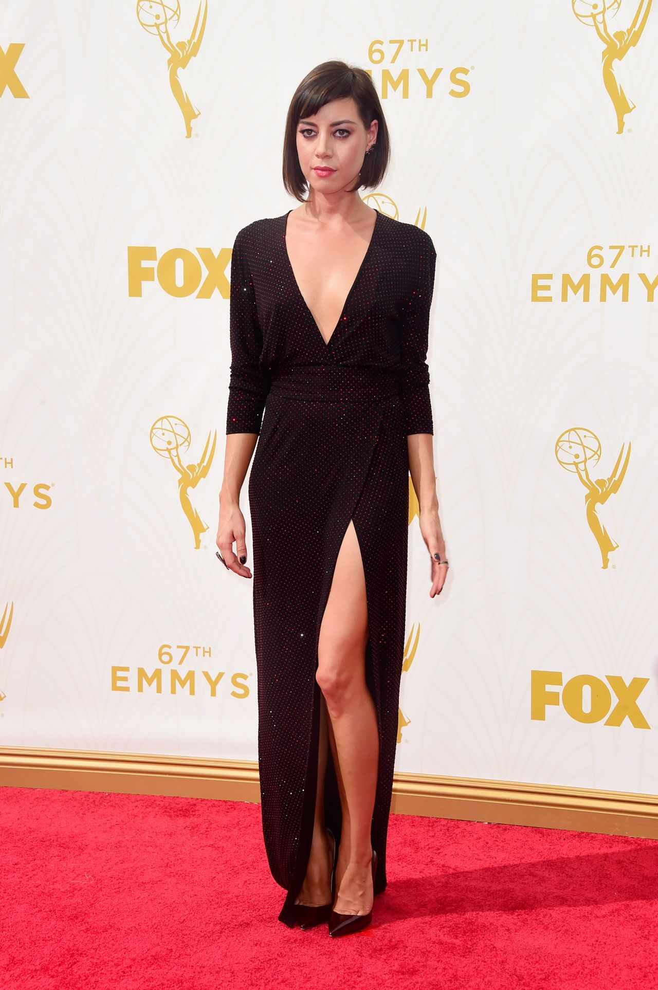 Aubrey Plaza 2015 Primetime Emmy Awards In Los Angeles
