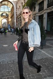 Behati Prinsloo - Milan Fashion Week S/S 2016 in Italy, September 2015