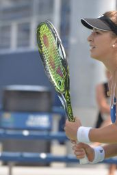 Belinda Bencic - Practice Session in New York, August 2015
