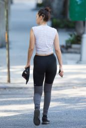 Bella Hadid in Leggings - Going Home After the Gym in New York, September 2015