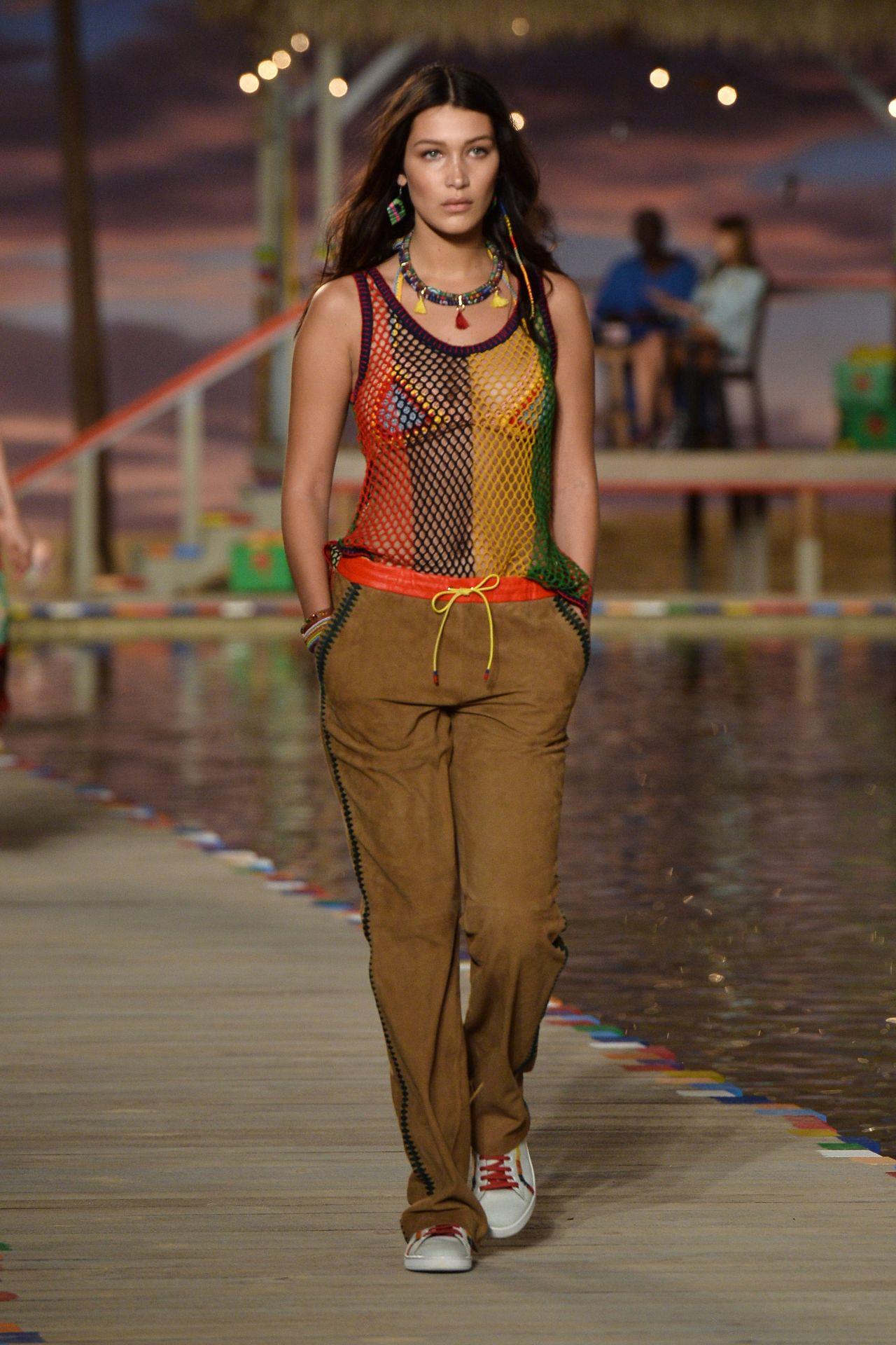 46b38a47c Bella Hadid - Tommy Hilfiger Runway Show - New York Fashion Week, September  2015