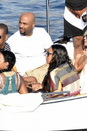 Beyoncé Out for lunch at La Conca del Sogno in Nerano, Italy, September 2015