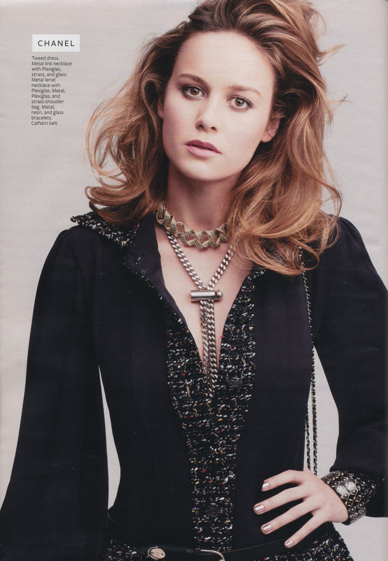Brie Larson Instyle Magazine Usa August 2015 Issue