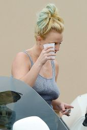Britney Spears in Shorts - Leaving a Gym in Calabasas, September 2015