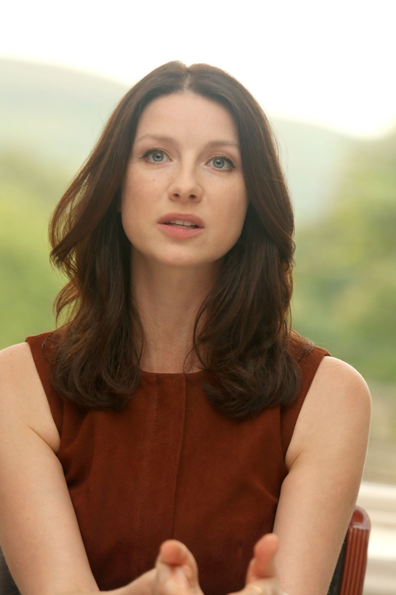 Caitriona Balfe Outlander Press Conference In Scotland