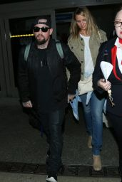 Cameron Diaz and Benji Madden - LAX Airport, August 2015
