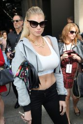 Charlotte McKinney - Jeremy Scott Fashion Show in NYC, September 2015
