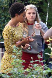 Chloe Moretz on the Set of Neighbors 2: Sorority Rising, September 2015