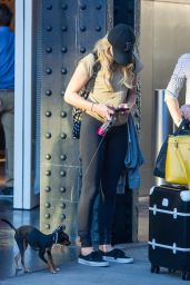 Chloe Moretz - Out With Her Dog in NYC, September 2015