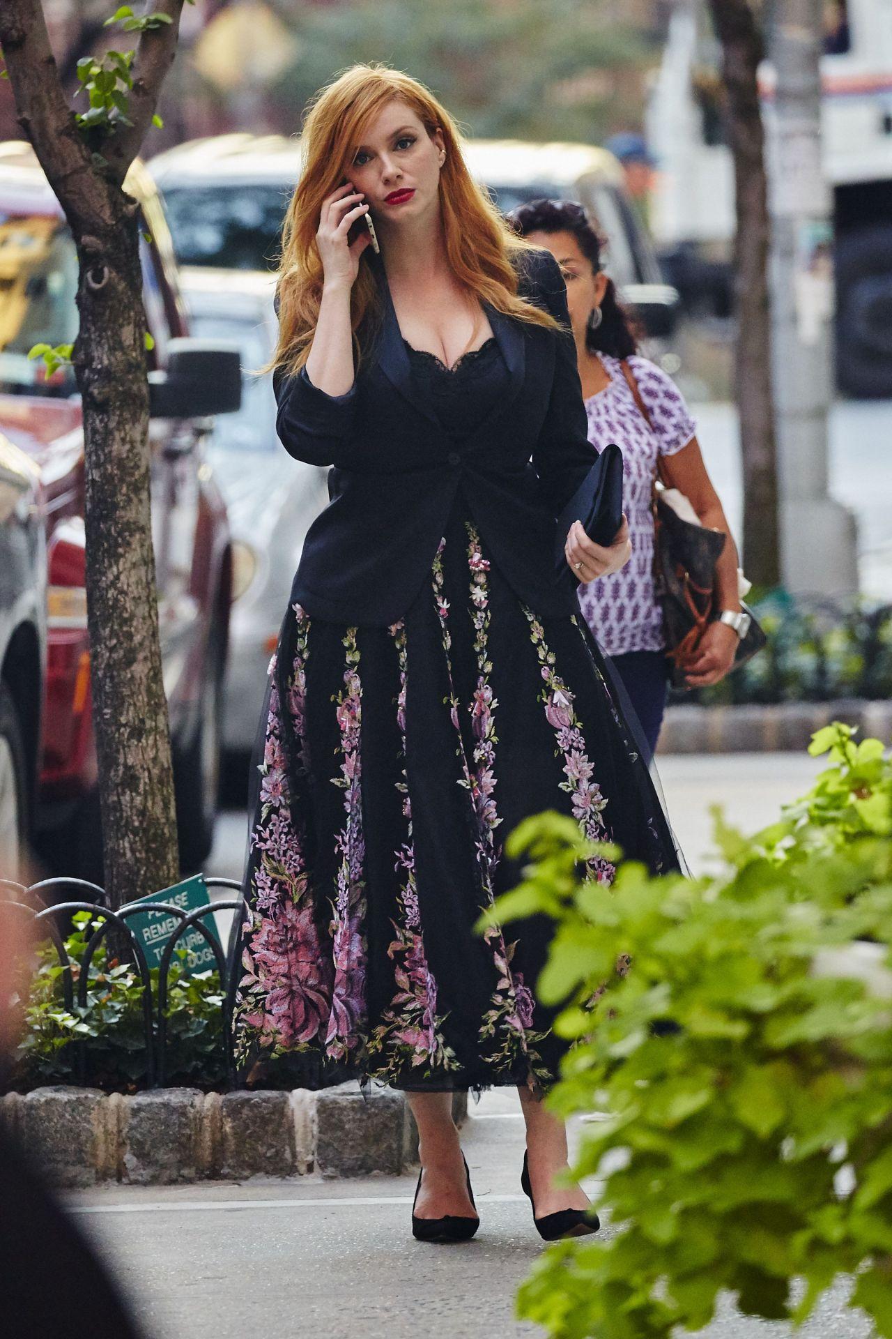 Christina Hendricks Marchesa Show At New York Fashion Week September 2015