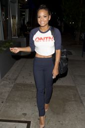 Christina Milian - Leaving Toca Madera in Los Angeles, September 2015