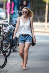 Dakota Fanning Summer Style - Out in NYC, September 2015